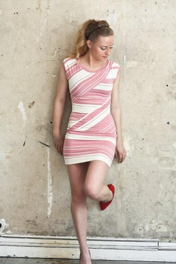 summer striped white mini dress