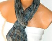 Gray Multicolor Scarf. Turkish Fabric Fringed Guipure Scarf ..bandana,headband,wedding,bridal,authentic, romantic, elegant,