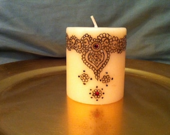 Hand Painted All-Natural Henna Candle