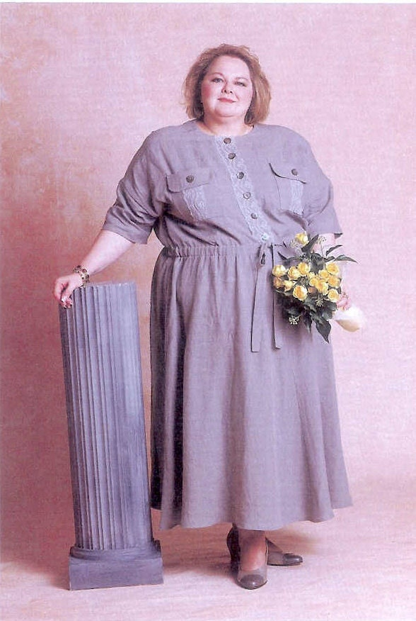Size 5x To 6x Super Plus Size Gray Linen Dress
