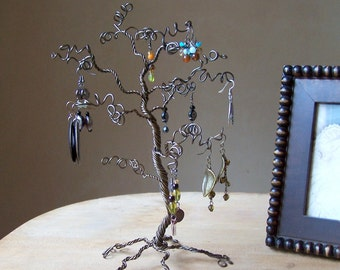 Jewelry Tree Stand Earring Display and Organizer - 12 inches - READY TO SHIP