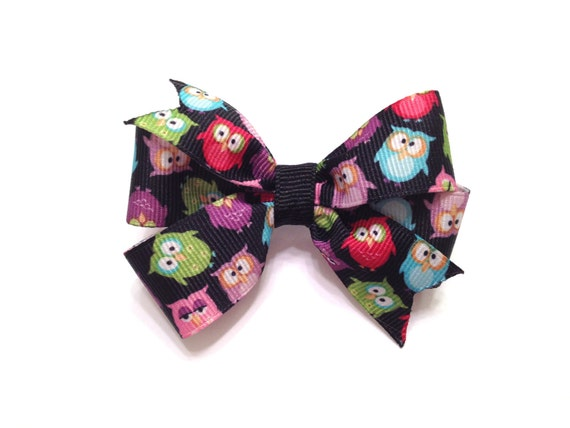50% OFF Adorable multi-colored owl hair bow
