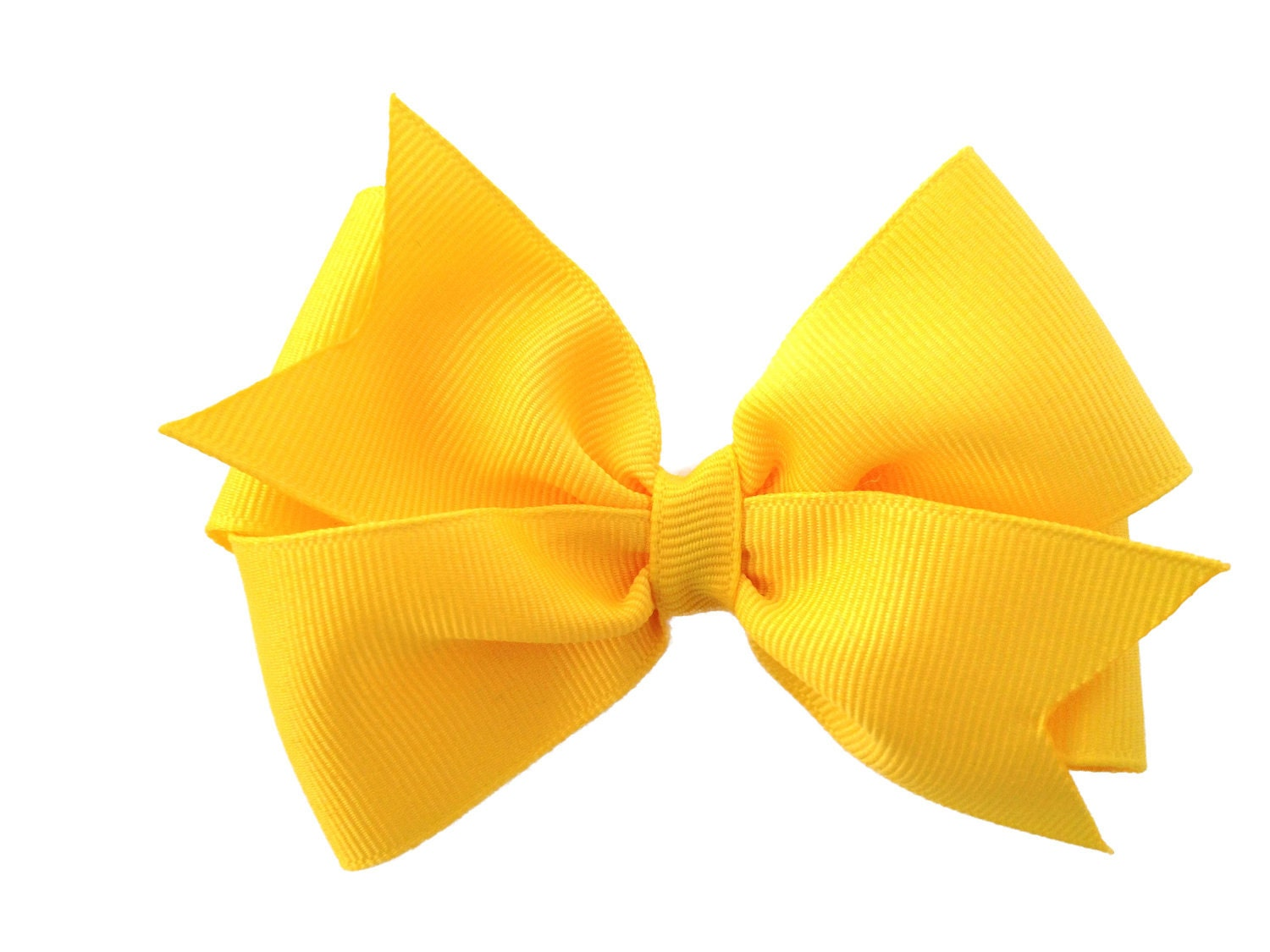 4 Inch Yellow Hair Bow Yellow Bow By Browneyedbowtique On Etsy