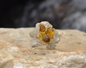 Nice Yellow Stone Ring Adjustable Handmade in Thailand (R050-Y)