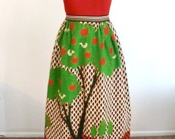 Vintage 1960/70s Hippie Boho Dress by Gene Stanley with Unusual Print