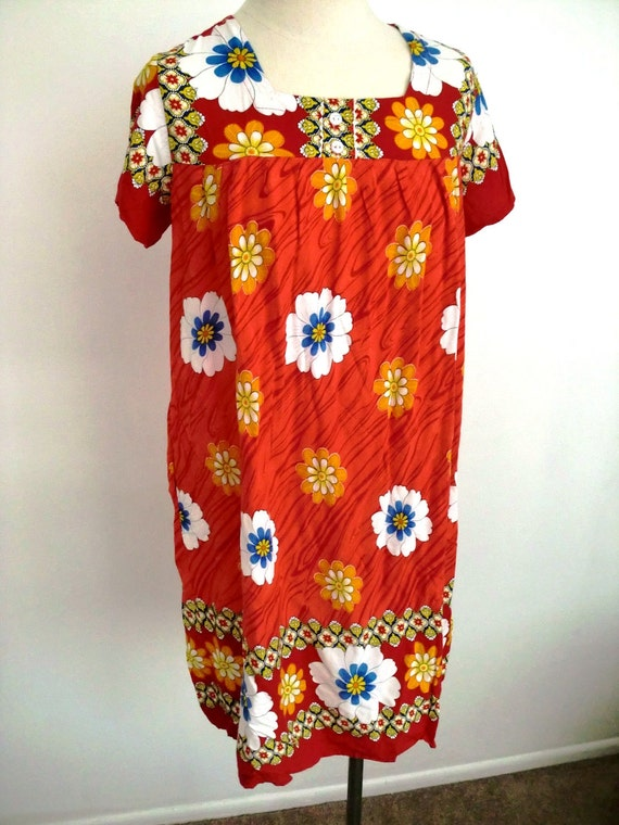 100% Proceeds TEAM GOMEZ Kicking Cancer's A..s - Hippie Flower Red Dress