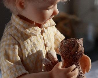 "OOAK art dolls composition ""Best friends"""