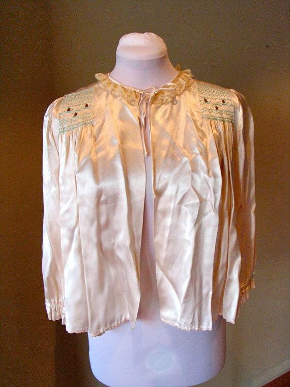 Vintage 1930s Satin Bolero / Jacket