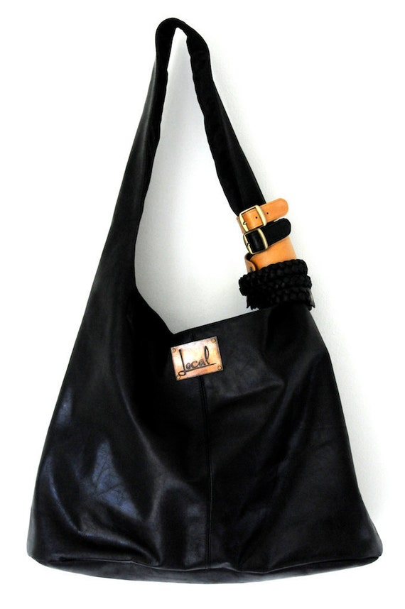SERENDIPITY. Leather shoulder bag / leather tote / leather purse / bohemian leather bag / boho leather. Available in different leather color