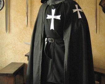 Medieval Knight Heraldry SCA Templar Hospitaller Surcoat & Cloak
