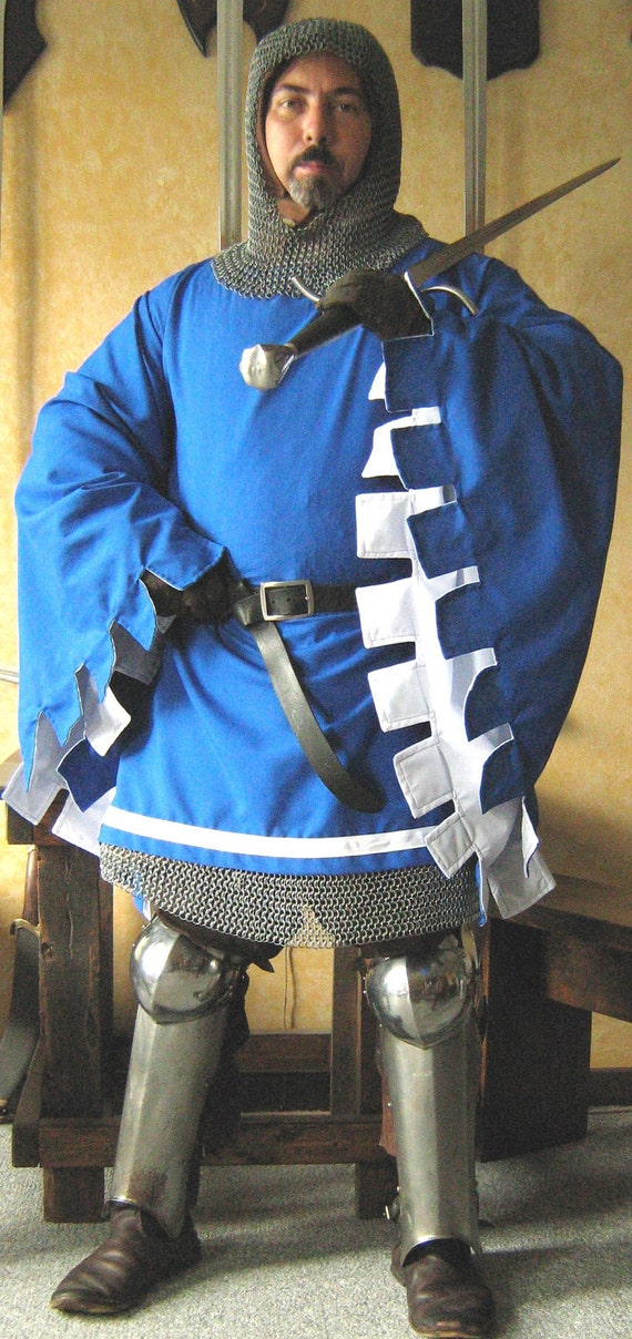 Medieval Knight Men At Arms Short Surcoat Deluxe