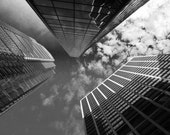 Philadelphia Photography Print,  Downtown Philly Skyscrapers, Black and White, Photo Paper Canvas Photography, 8x10 8x12 10x15 11x14