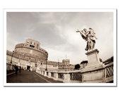 Italy Rome Photograph, Castel Sant'Angelo Print, Living Room Decor Print, Canvas or Photo Paper 8x10 8x12 10x15 11x14 16x20 16x24 20x24