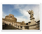 Travel Photography, Living Room Decor Print, Rome Castle Italy, Castel Sant'Angelo, Any Size Print