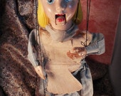 LAST CHANCE CLEARANCE Alice in Wonderland Marionette Walt Disney Official Composite Doll Vintage 50s Peter Puppet Playthings