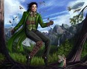 8x10 Signed Steampunk Michael Jackson Peter Pan Print