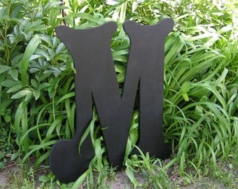 Black 2 foot tall letter.  Many Colors Available.  Wedding Letter Wall Letter