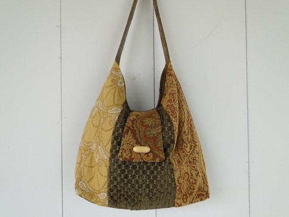 Jamaica's Bag - Fabric Bag -  Fabric Purse - Handmade Bag - Cotton Fabric Bag