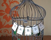 Wedding banner, card box banner for your gift table.  Vintage sheet music design.  Add to birdcage, suitcase, card box.