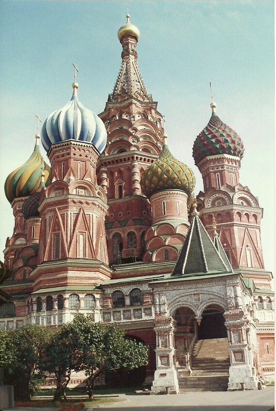 St. Basil's Cathedral. Moscow, USSR  -  Cross Stitch Pattern From a Fine Art Photograph - Fiber Art