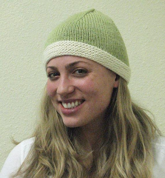 Light Green Hat with Cream Brim