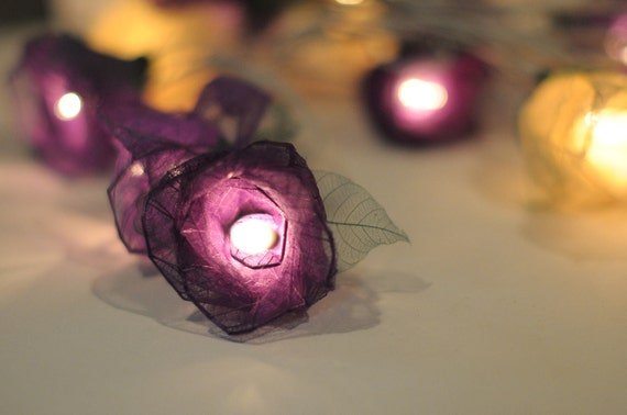 20 real flower leaf rose light wedding decoration deco home hanging lantern display flower lamp patio