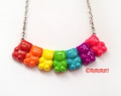Super Cute Rainbow Gummy Bears Necklace