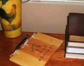 Butterfly Journal - Notebook - Wood Burnt