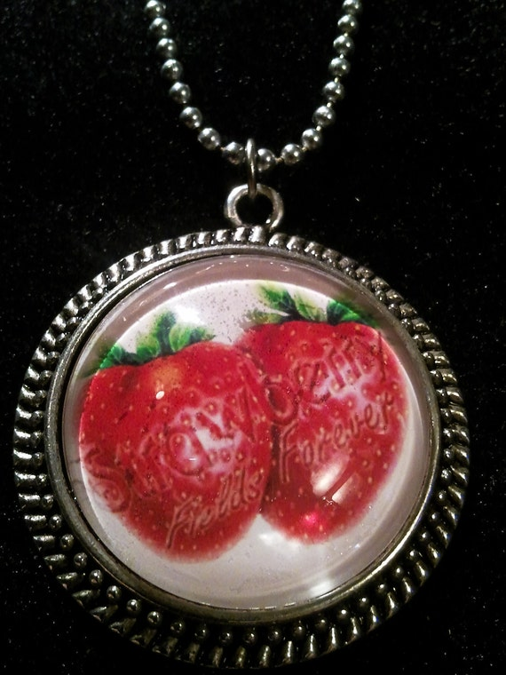Pop culture necklace: Strawberry Fields Forever. The Beatles.