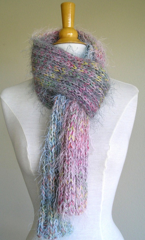 Mulberry Street Scarf -  Multicolored, fuzzy, soft - OOAK - for kids of all ages