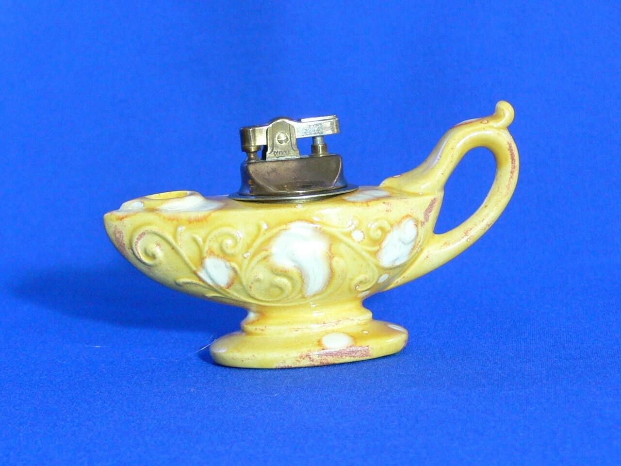 Vintage Genie Lamp Tabletop Lighter Minxie Mg 011