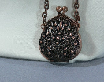 Sale - Copper Chain and Locket Purse - Necklace - FS-090