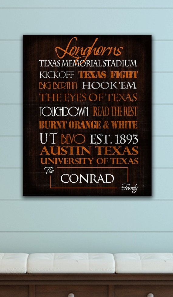 Texas Longhorns: Print or Canvas
