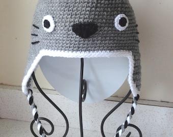 Crochet Pattern Totoro Hat : Totoro hat Etsy
