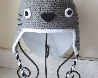 Knitting Pattern For Totoro Hat : Totoro hat Etsy
