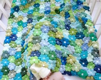 Newborn Crochet Pattern, Floral Baby Blanket Pattern ...