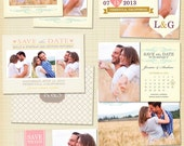 Save the Date Card Template for Photographers Photoshop Templates for Photographers Photo Card Template - SD3019