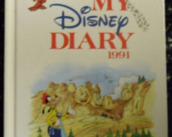 Vintage Childrens Book - Disney Diary 1991 Published by Grolier