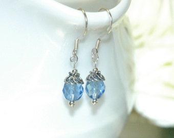 Sky Blue Sterling Silver Earrings