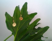 Spiral Earrings in Gold or Pure Silver spiral jewelry