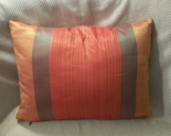 "Pillow Cover Orange and Yellow 12""x16"" Lumbar pillow cover Cushion Cover Toss pillow accent pillow"