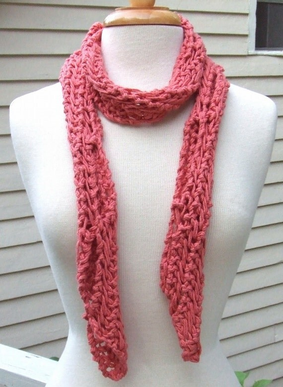 Knitting Pattern-In The Loop Scarf, knit lace scarf ...