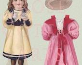 Digital Download Antique Die Cut Paper Doll Victorian Scrap Graphic Images