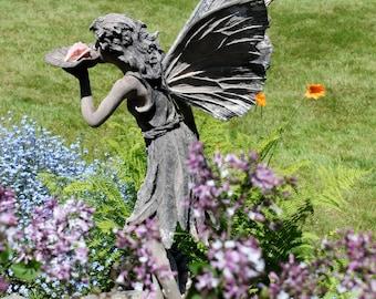 Fairy Stone Garden Statue Photograph With Photo Mat