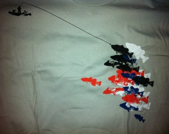 Fishin - T Shirt - American Apparel