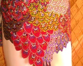 Belly Dance Hip Scarf Bird of Paradise Made to Order