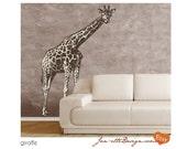 Wall Art, Large Giraffe Wall Decal
