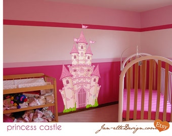Perfect Pink Princess Castle Fabric Wall Decal, Castle Wall Decal, Castle Wall  Sticker Part 31