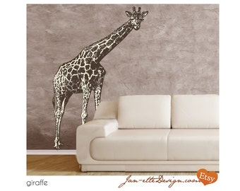 Wall Art, Large Giraffe Wall Decal