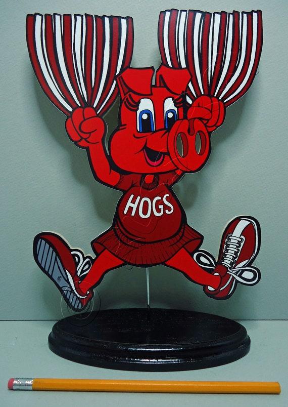 "Arkansas Razorbacks ""Big Red"" Cheerleader - Shelf sitter"